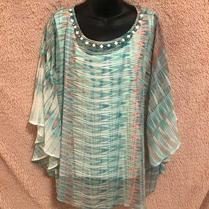 Women's Watercolor Flowy Shirt